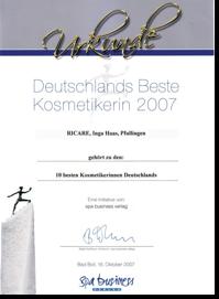 Deutschlands Beste Kosmetikerin